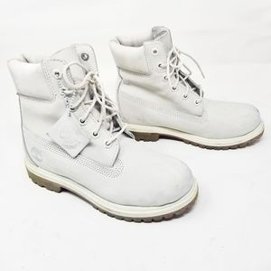 Timberland All Off-white Waterproof Boots size 5.5
